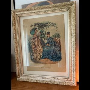 La Mode Illustree Print in Frame
